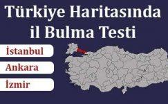 Türkiye Harita Bilgini Test Et